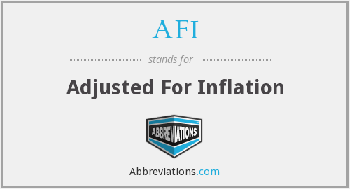 AFI - Adjusted For Inflation