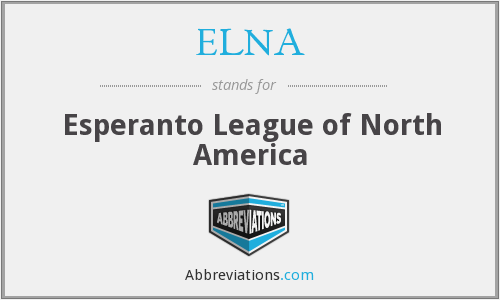 ELNA - Esperanto League of North America