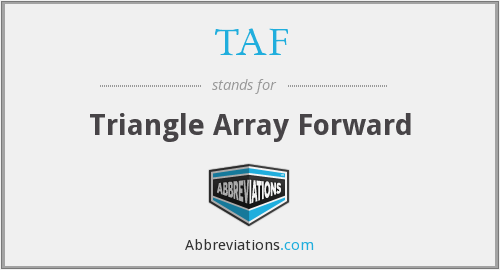 TAF - Triangle Array Forward