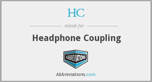 HC - Headphone Coupling