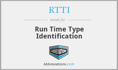 RTTI - Run Time Type Identification