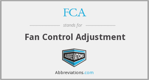 FCA - Fan Control Adjustment