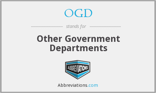 OGD - Other Government Departments