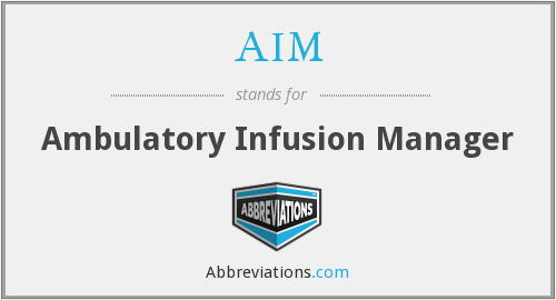 AIM - Ambulatory Infusion Manager