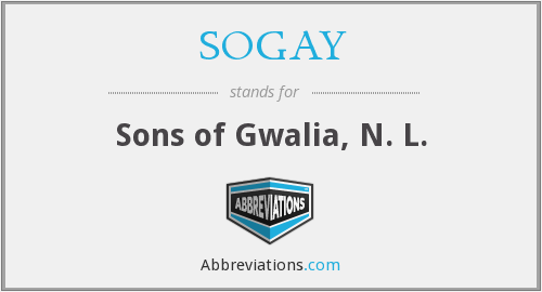 SOGAY - Sons of Gwalia, N. L.