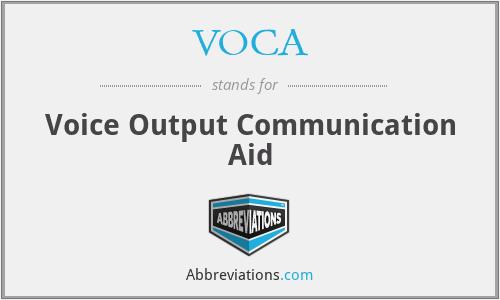 VOCA - Voice Output Communication Aid