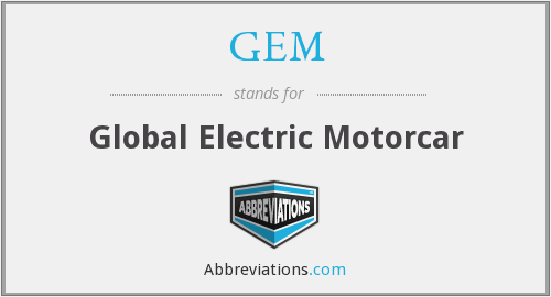 GEM - Global Electric Motorcar