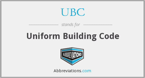 UBC - Uniform Building Code