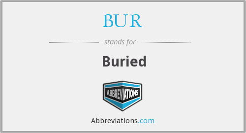 What does BUR stand for?