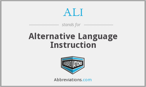 ALI - Alternative Language Instruction