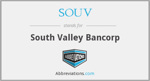 What does SOUV stand for?