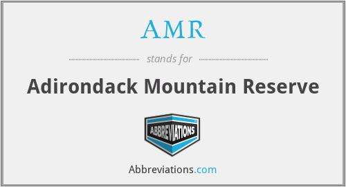 AMR - Adirondack Mountain Reserve