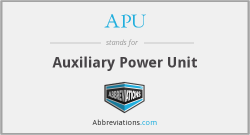APU - Auxiliary Power Unit