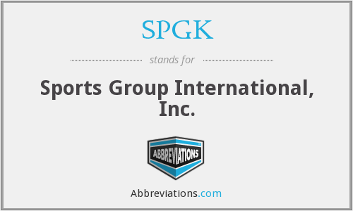 SPGK - Sports Group International, Inc.
