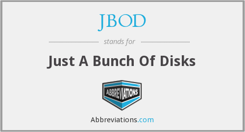 What does JBOD stand for?