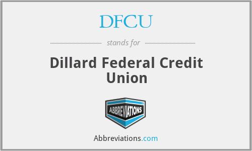 DFCU - Dillard Federal Credit Union