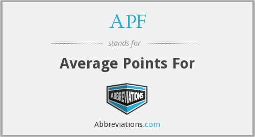 APF - Average Points For