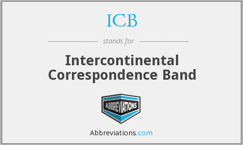 ICB - Intercontinental Correspondence Band