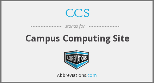CCS - Campus Computing Site