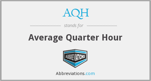 What does AQH stand for?