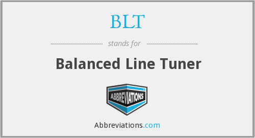 BLT - Balanced Line Tuner