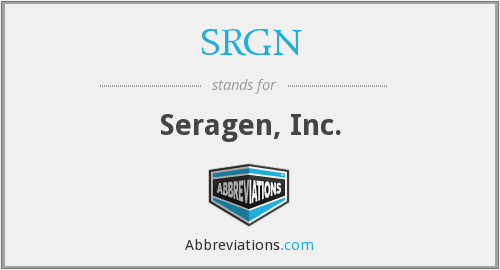 What does SRGN stand for?