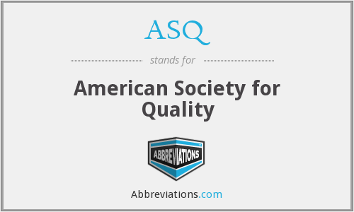 ASQ - American Society for Quality
