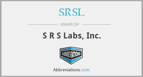 SRSL - S R S Labs, Inc.