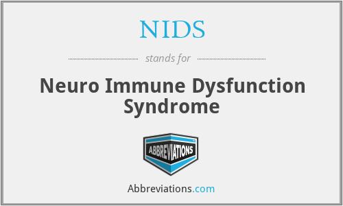 NIDS - Neuro Immune Dysfunction Syndrome