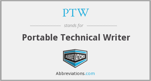 PTW - Portable Technical Writer