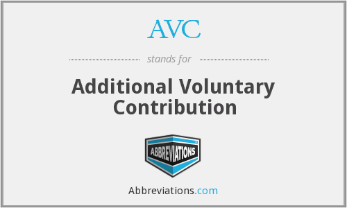 AVC - Additional Voluntary Contribution