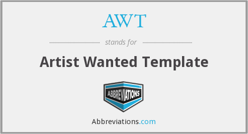 AWT - Artist Wanted Template