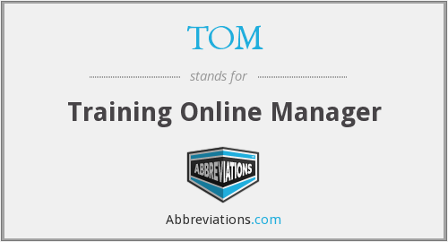 TOM - Training Online Manager