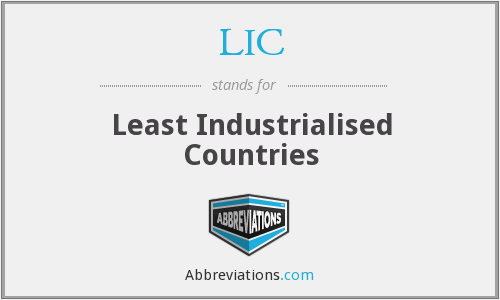 LIC - Least Industrialised Countries