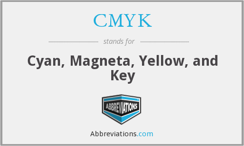 CMYK - Cyan, Magneta, Yellow, and Key