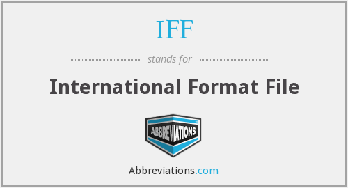 IFF - International Format File