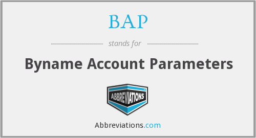 BAP - Byname Account Parameters