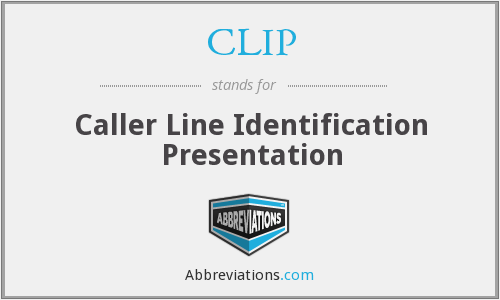 CLIP - Caller Line Identification Presentation