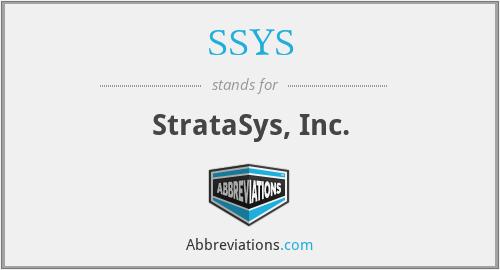 SSYS - StrataSys, Inc.