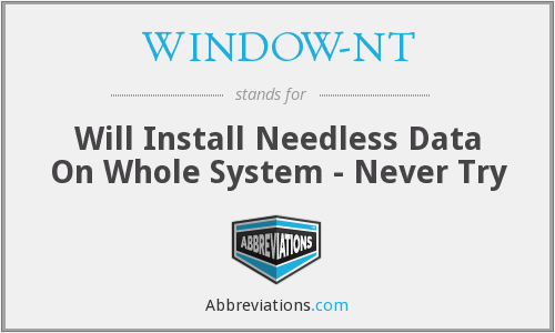 What does WINDOW-NT stand for?