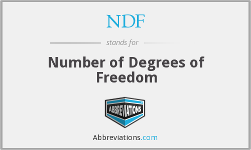 NDF - Number of Degrees of Freedom