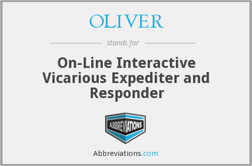 OLIVER - On Line Interactive Vicarious Expediter And Responder