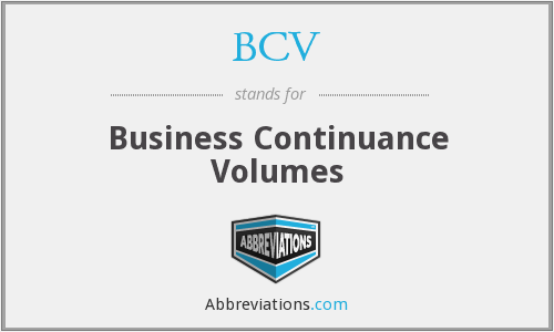 BCV - Business Continuance Volumes