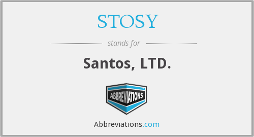 What does STOSY stand for?