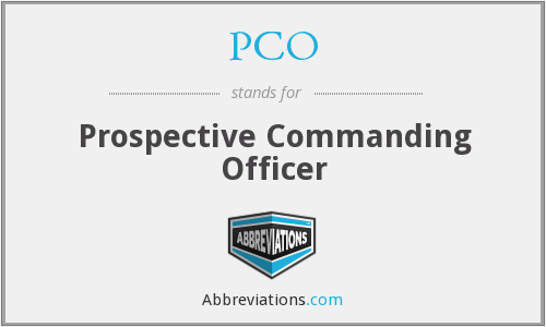 PCO - Prospective Commanding Officer