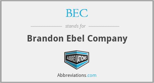 BEC - Brandon Ebel Company