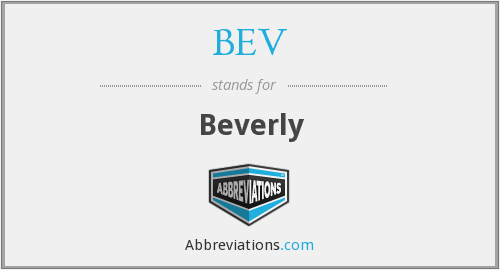 What does BEV stand for?