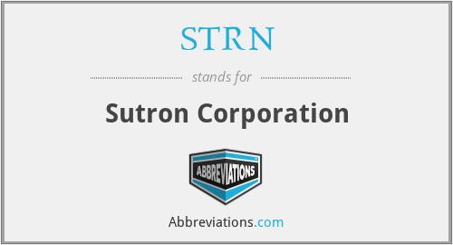 STRN - Sutron Corporation