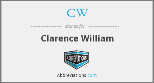 CW - Clarence William