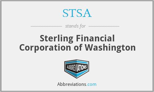 STSA - Sterling Financial Corporation of Washington